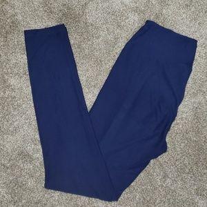 LuLaRoe OS SOLID blue leggings